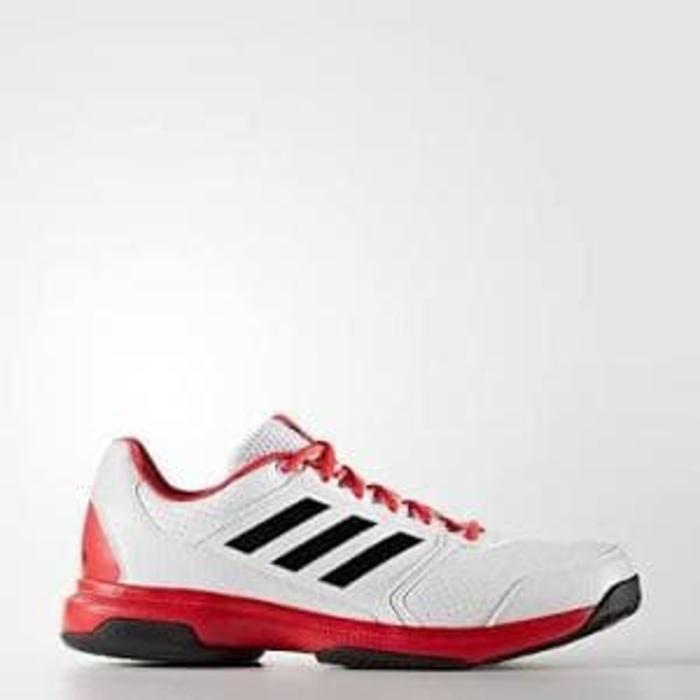 Sepatu Tennis Adidas Adizero Attack - White/Red Original