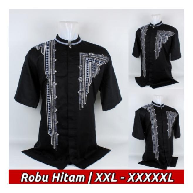 Baju Koko Big Size, Busana Muslim Pria Lengan Pendek Jumbo Me.12