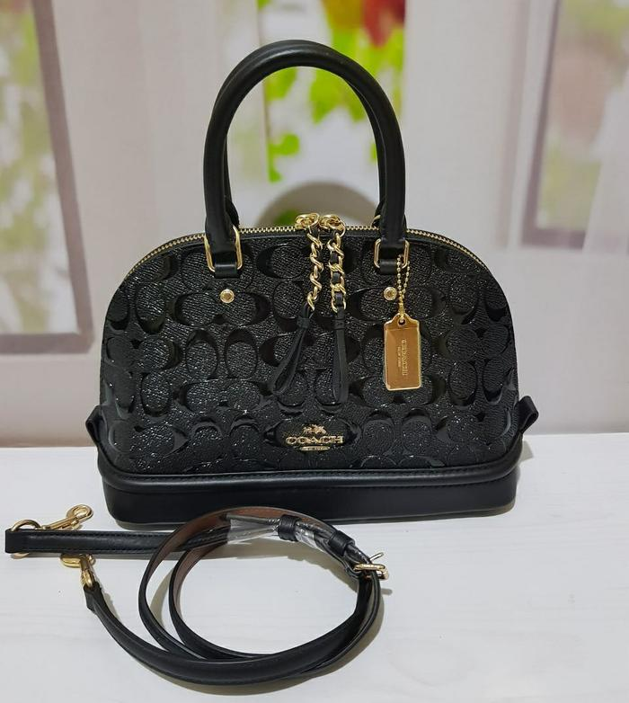 Coach Mini Sierra Emboss Black . Tas Coach Original