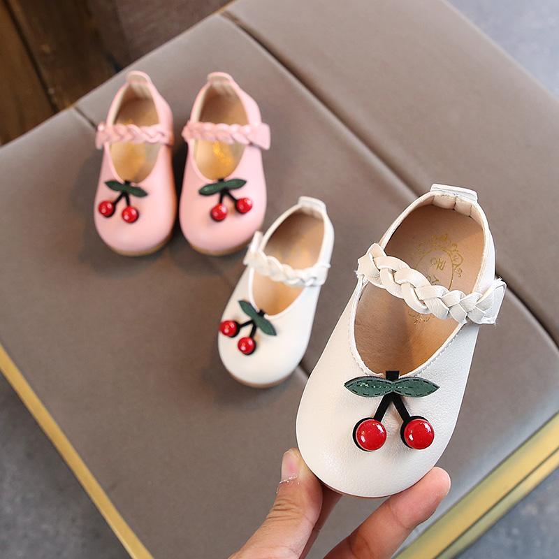 0-1-2-3 tahun anak perempuan Sepatu sepatu lapisan tunggal Musim Semi dan Musim Gugur satu Tahun setengah Bayi perempuan Pijakan empuk Putri Sepatu Kulit sepatu anak perempuan - 2
