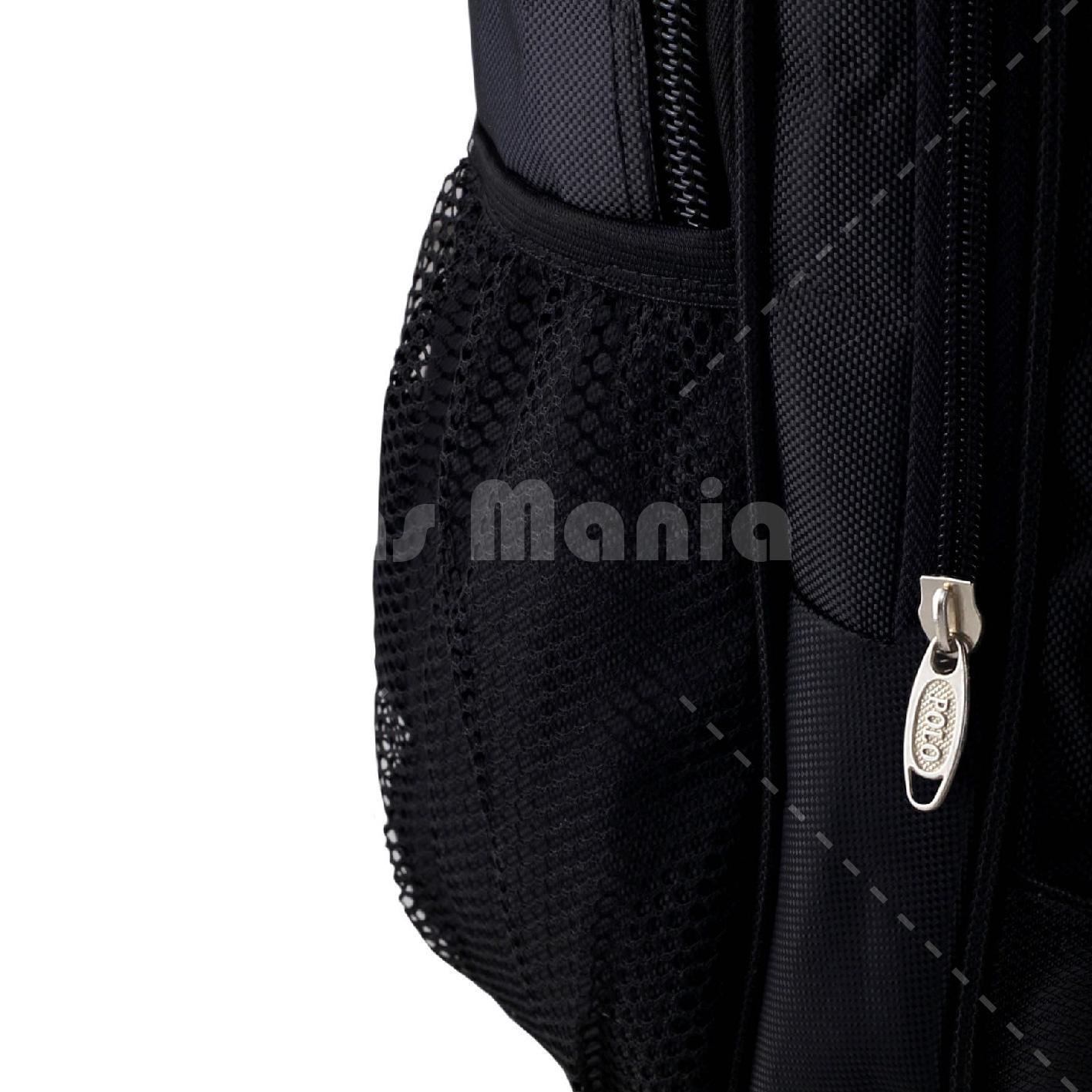 Tas Ransel Polo USA Black Anaconda Tas Laptop Backpack + Raincover FREE POLO .