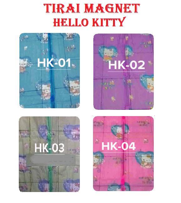 Magic Mesh Tirai Magnet Anti Nyamuk Karakter Hello Kitty - Tirai Pintu Magnet - Random .