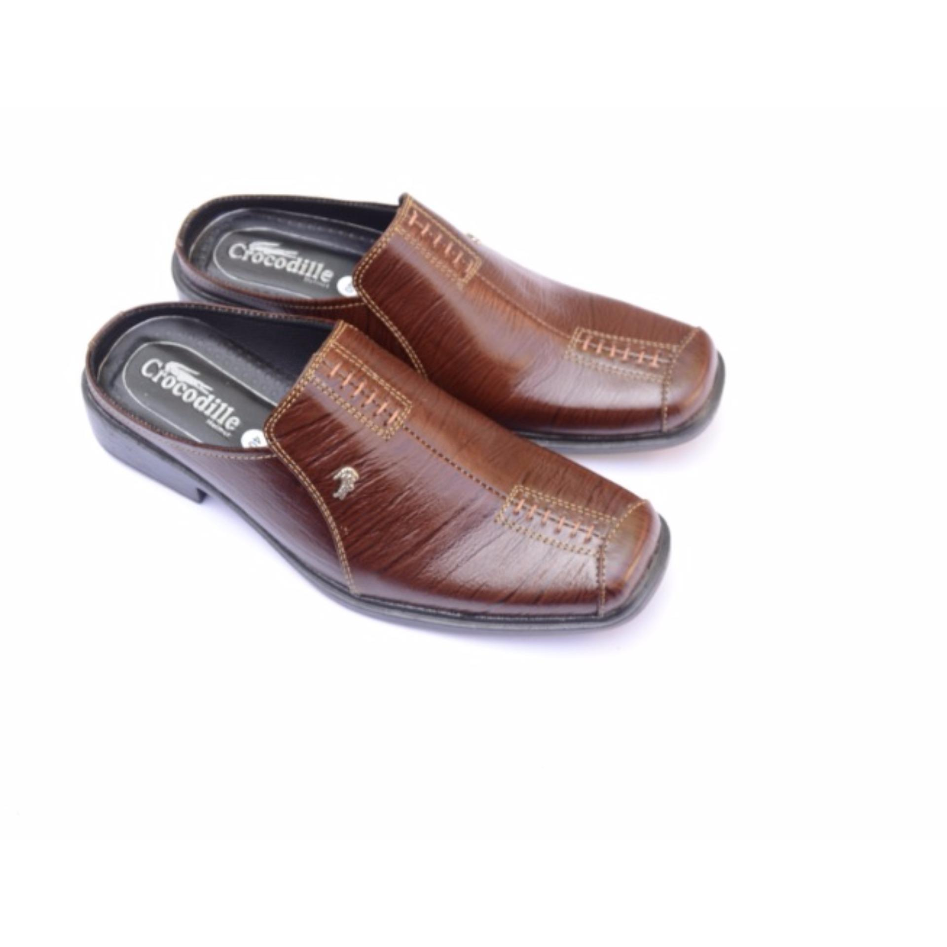 Sandal Pria Selop Kulit Sapi Hitam Daftar Harga Terbaru Dan Sepatu Bahan Kukit Asli Fd 1 Bandingkan Toko Crocodile