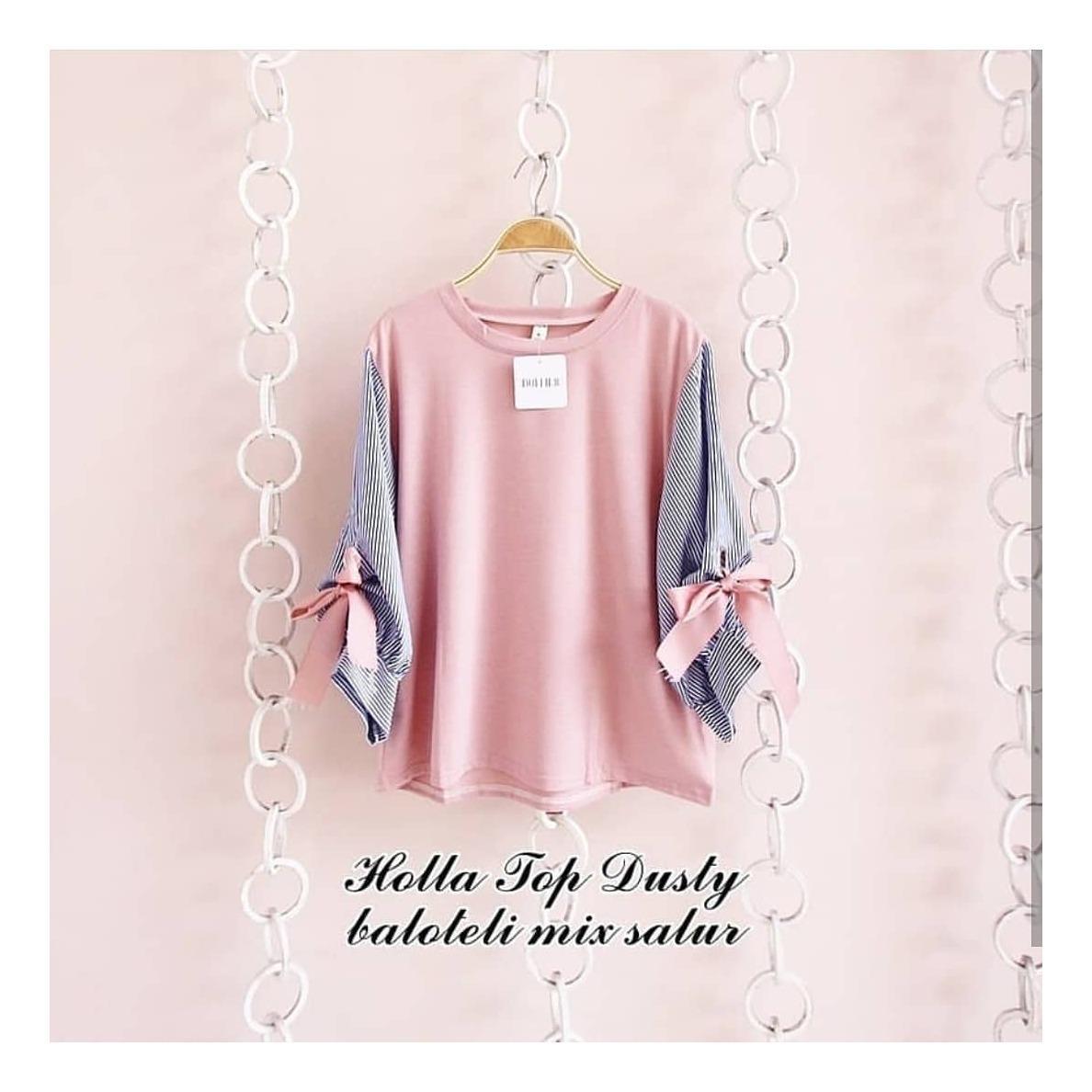 "Top Blouse ""SF HOLLA"" Baju Atasan Panjang Wanita Muslim Hijab Moderen Pakaian Trand Terbaru Fashionable"