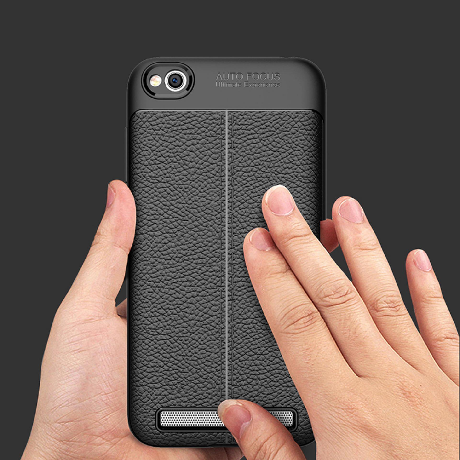 Detail Gambar Kenzoe Accessories Hp Premium Ultimate Shockproof Leather Case For Xiaomi Redmi 5A - Black Terkini