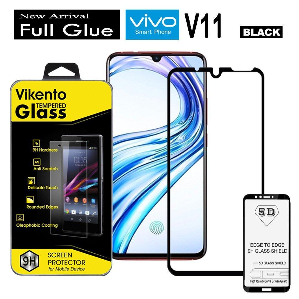 Full Coverage Screen Protector For Vivo V11 9H Anti Gores Kaca 5D Full Glue Tempered Glass