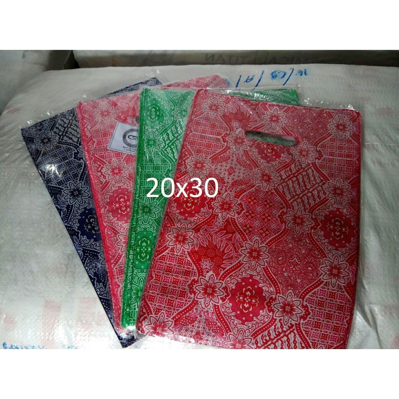 Kantong Plastik Baju HD Oval Batik Uk 20x30 - plastik belanja, kantong online shop