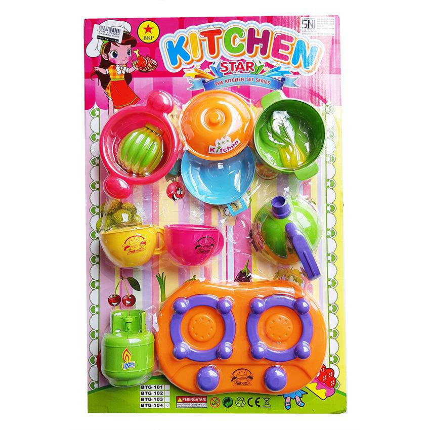 MOMO Toys Kitchen Set Mainan Masak Masakan Anak