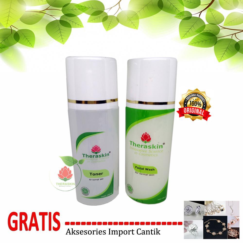 Kelebihan Theraskin Beauty Center Paket Facial Wash Toner For Sabun Wajah Muka Normal Skin Gratis Aksesories Import
