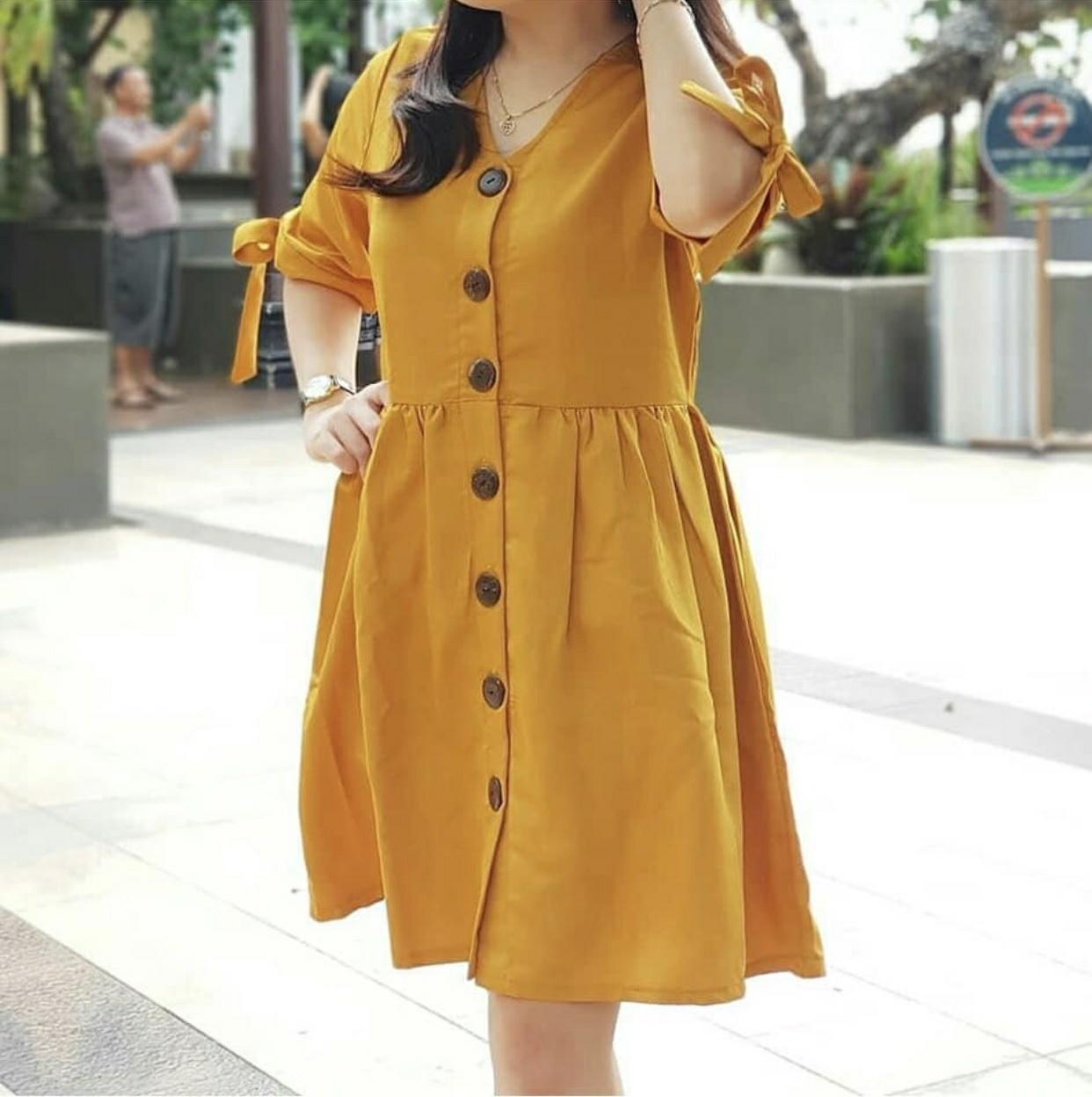 Hoziro - Baju / Dress / Atasan / Blouse / Long Dress / Midi Dress Wanita Aqilla Bahan Twistcone