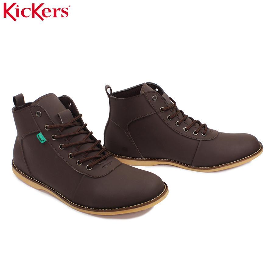 Fitur Kickers Brodo Cokelat Bandhit Sintetis Boots Casual Tali Dan ... a2282a8903