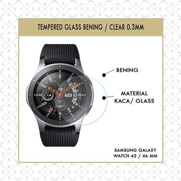 Features Casa Tempered Glass Samsung Galaxy Watch 42mm 46mm Clear 0