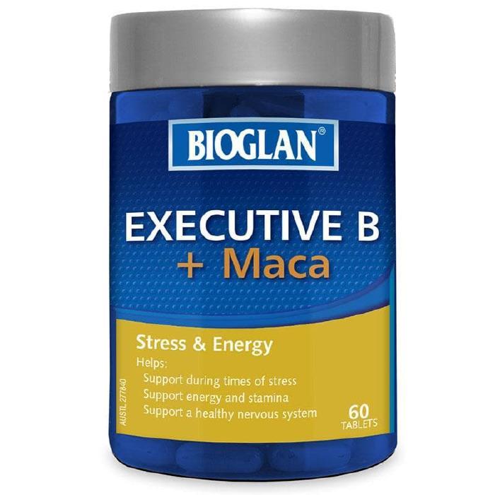 Bioglan Executive B + Maca 60 Tablets