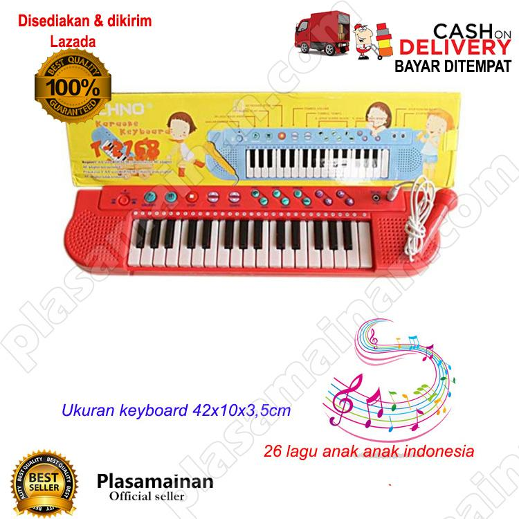 AA Toys Techno Karoke Keyboard T-2768 WARNA ACAK - Mainan Piano Karoke Lagu Indonesia / WARNA RANDOM - 4