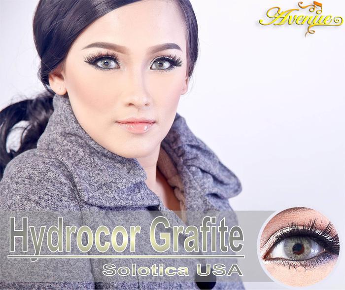 Softlens Hydrocor ORIGINAL / Soflens Hydrocor By Sweety Gray - Grey + Free Lenscase