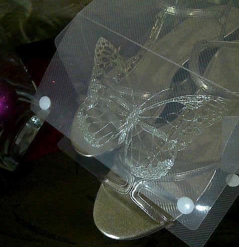 Kotak Sepatu Transparan Basic M Kancing Putih Tebal Premium Quality (Bukan yg Murahan) - Transparant Shoes Box With Handle High Quality - 2