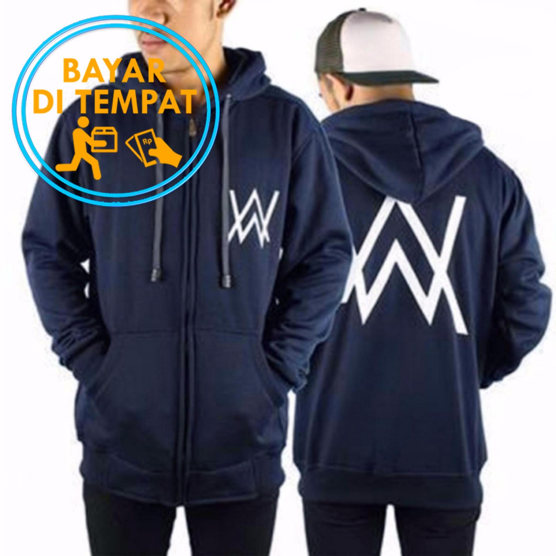 Diskon Jaket Sweater Murah Alan Walker Black Blue Navy Branded