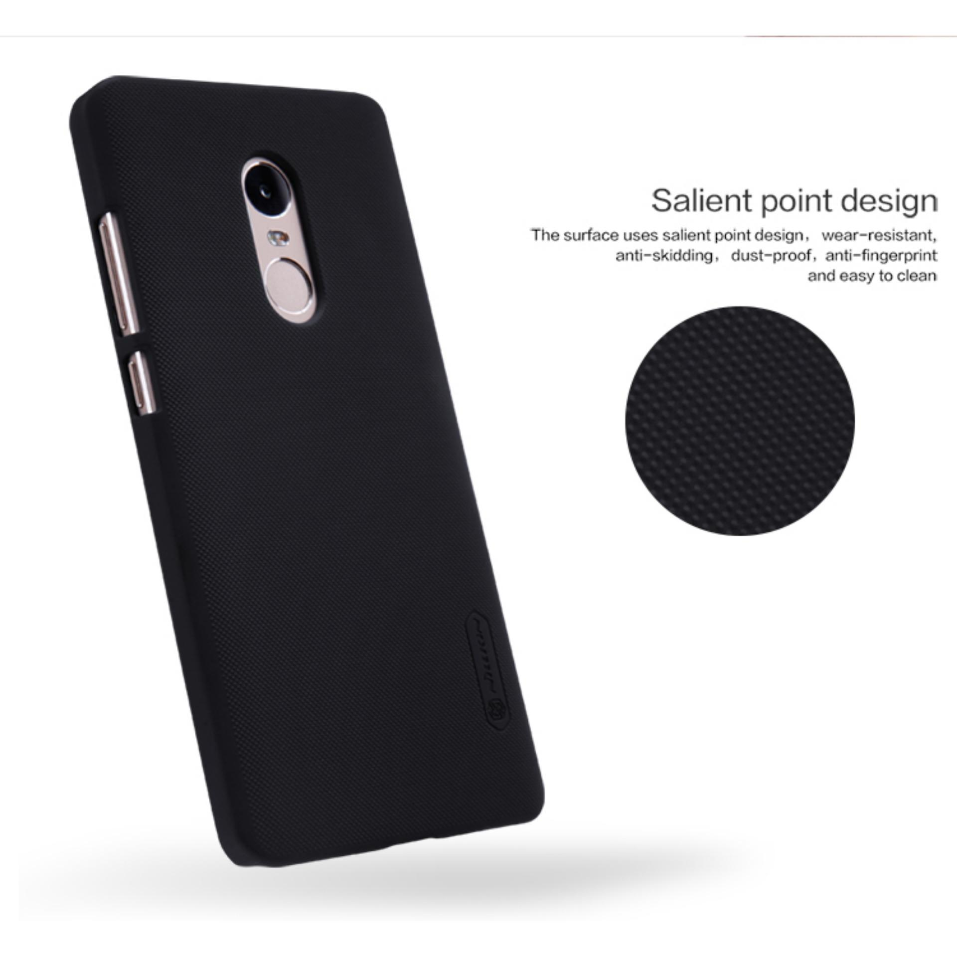 Detail Gambar Xiaomi Redmi Note 4 Case Redmi Note 4 Cover Nillkin Frosted Shield Case For Xiaomi Redmi Note 4 Pro Prime 5.5 inch + Free L1R1 Fire Button ...