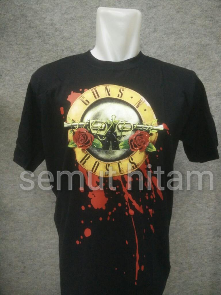 Kelebihan Kaos Pendek Oblong Band Metal Rock Hitam Prapatan Metalica Rebel Size L Guns N Roses