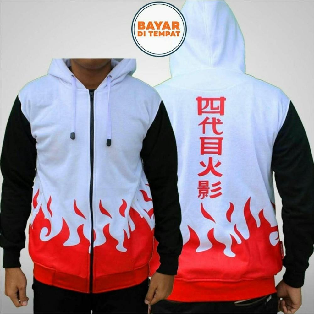Jual Jaket Naruto Yondaime Hokage Jaket Ninja Naruto Kakashi Sasuke Sakura Best Seller White Black Online Jawa Barat