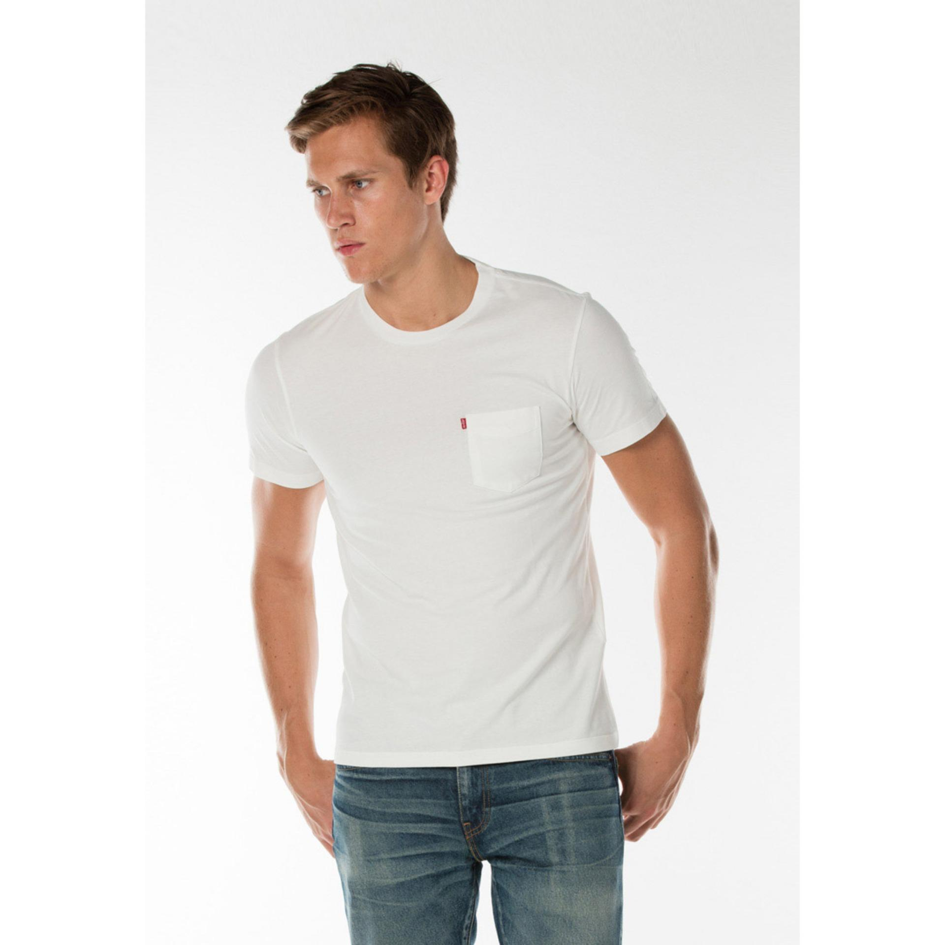 Levi S Sunset Pocket Tee Whitesmoke Promo Beli 1 Gratis 1