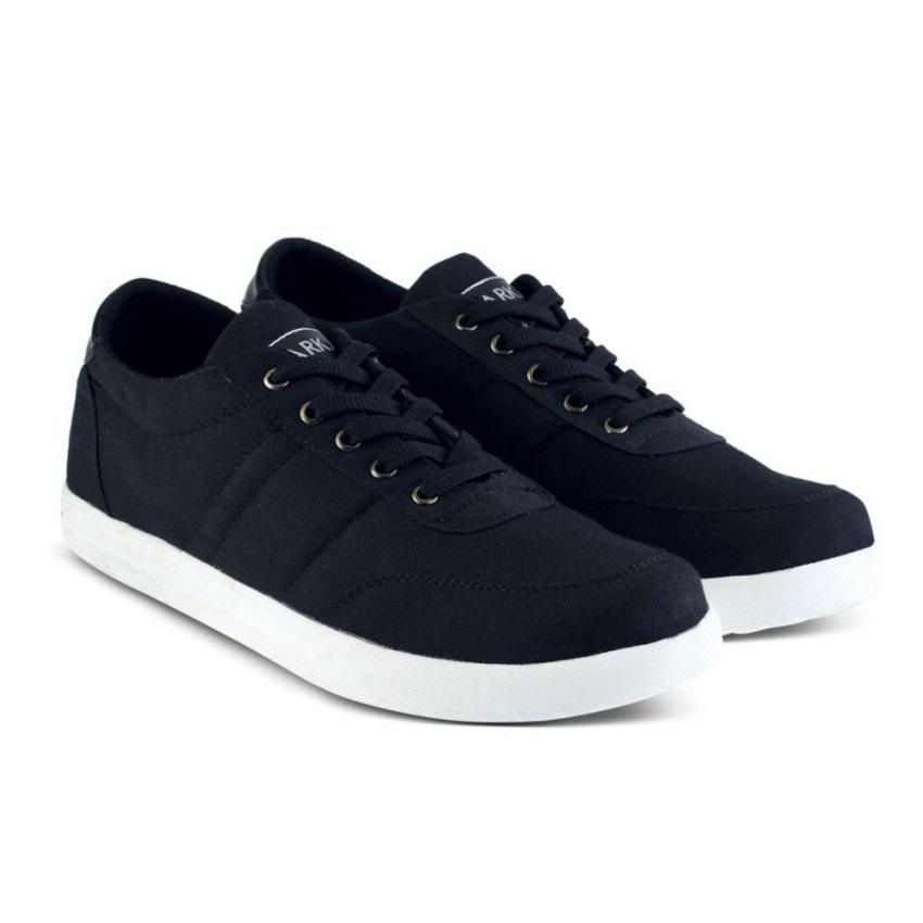 Distro VD 442 Sepatu Sneakers Kets dan Kasual Pria - Hitam