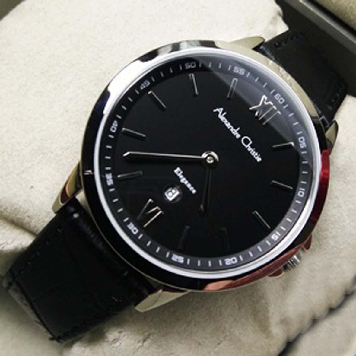 Alexandre Christie AC 8436MDSB Silver Black Jam Tangan Original Wanita Fashion Casual