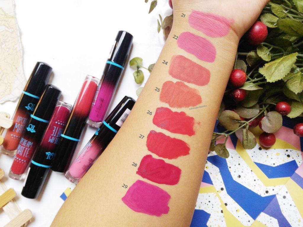 Kelebihan Theta Bpom Ql Lipcream Matte Lip Cream Lipstick Cair 24 Lipstik Lips Cosmetics No Nudy Classic