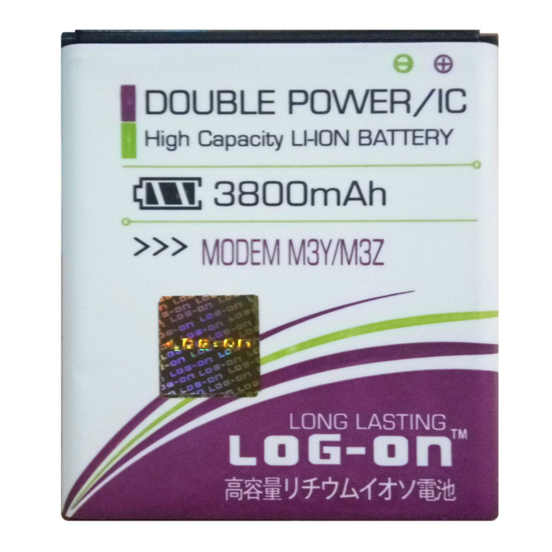 Log On Baterai Modem WIFI Smartfren Andromax M3Y M3Z - Double Power Battery - 3800 mAh