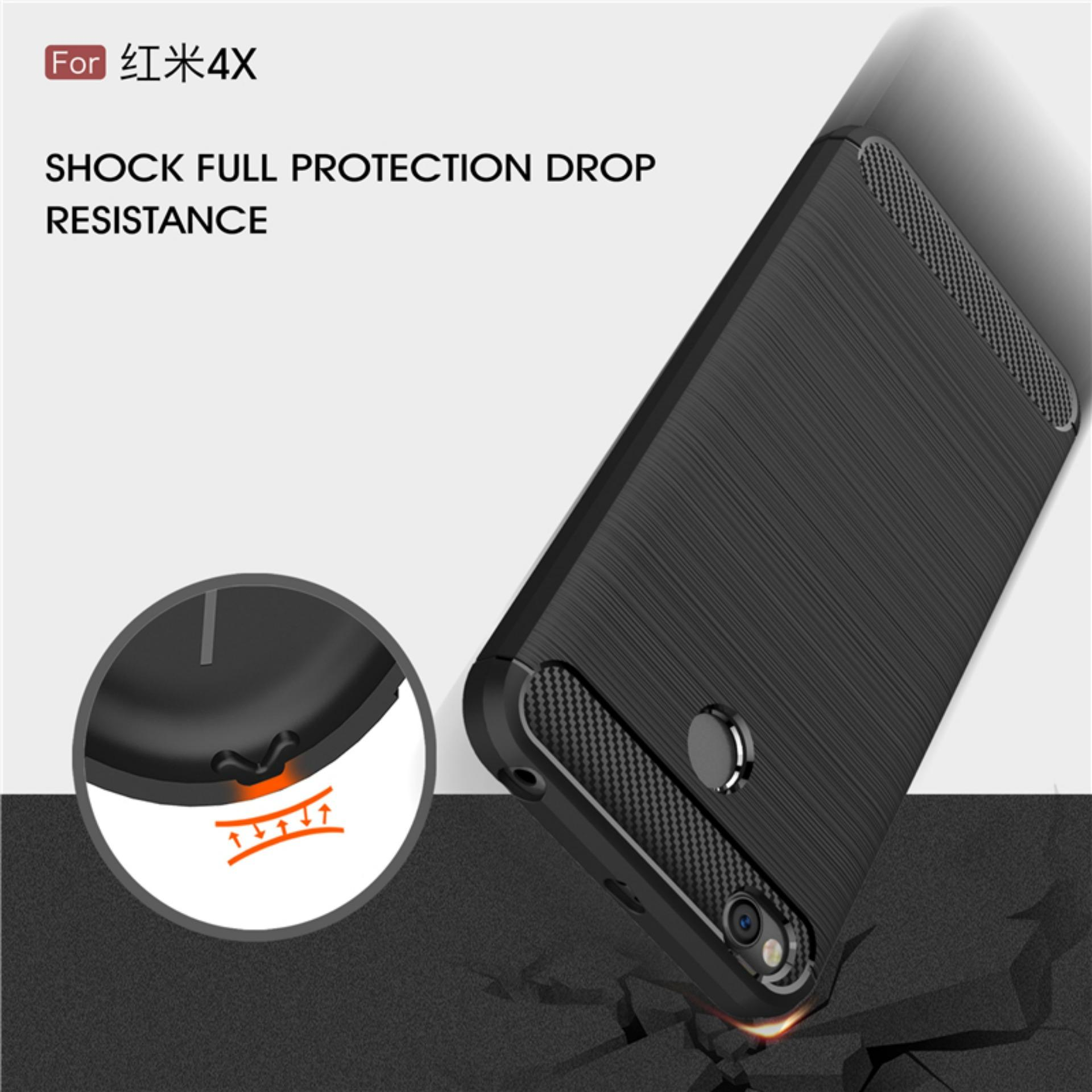 Uncle Star - Case Ipaky Carbon Fiber Shockproof Hybrid Elegant Case for Xiaomi .