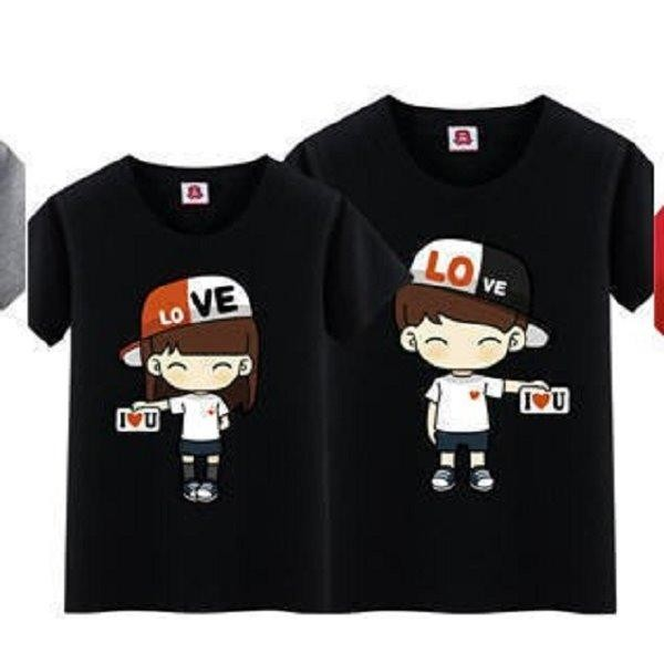 Beli Couple Store Cs Kaos Pasangan Topi Love Letter Love T Shirt Couple Couple Store Cs