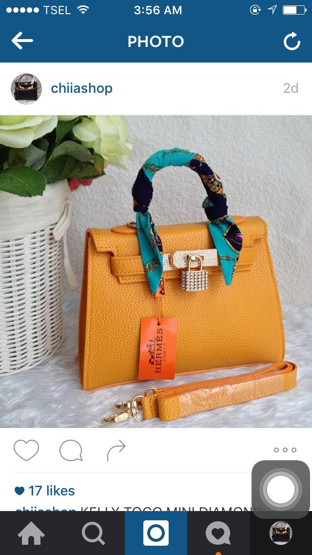 Hermes Kelly Togo Diamond Orange