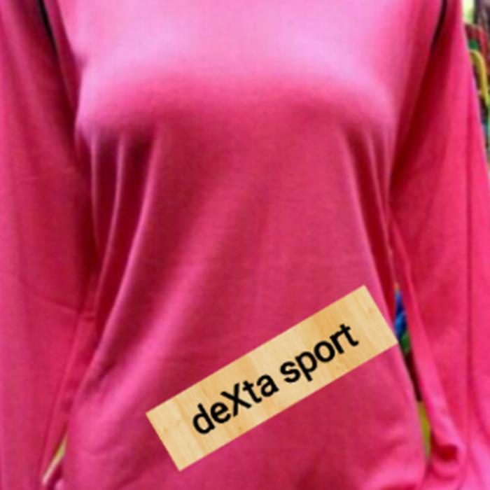 Detail Gambar BEST SELLER!!! Stelan Baju Olahraga Muslim / Kaos Olahraga Muslimah Pink Fanta - nwlgcS Terbaru