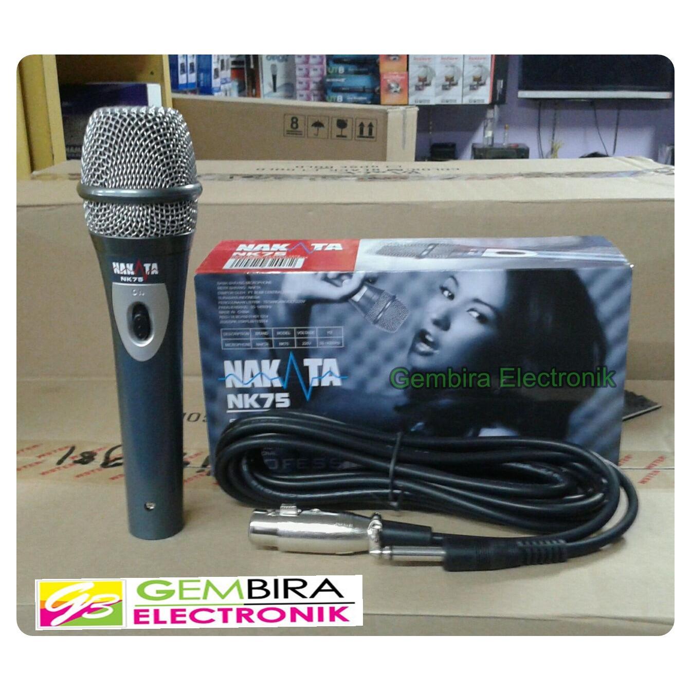 mic kabel murah nakata nk75 microphone cable nakata nk 75 vokal