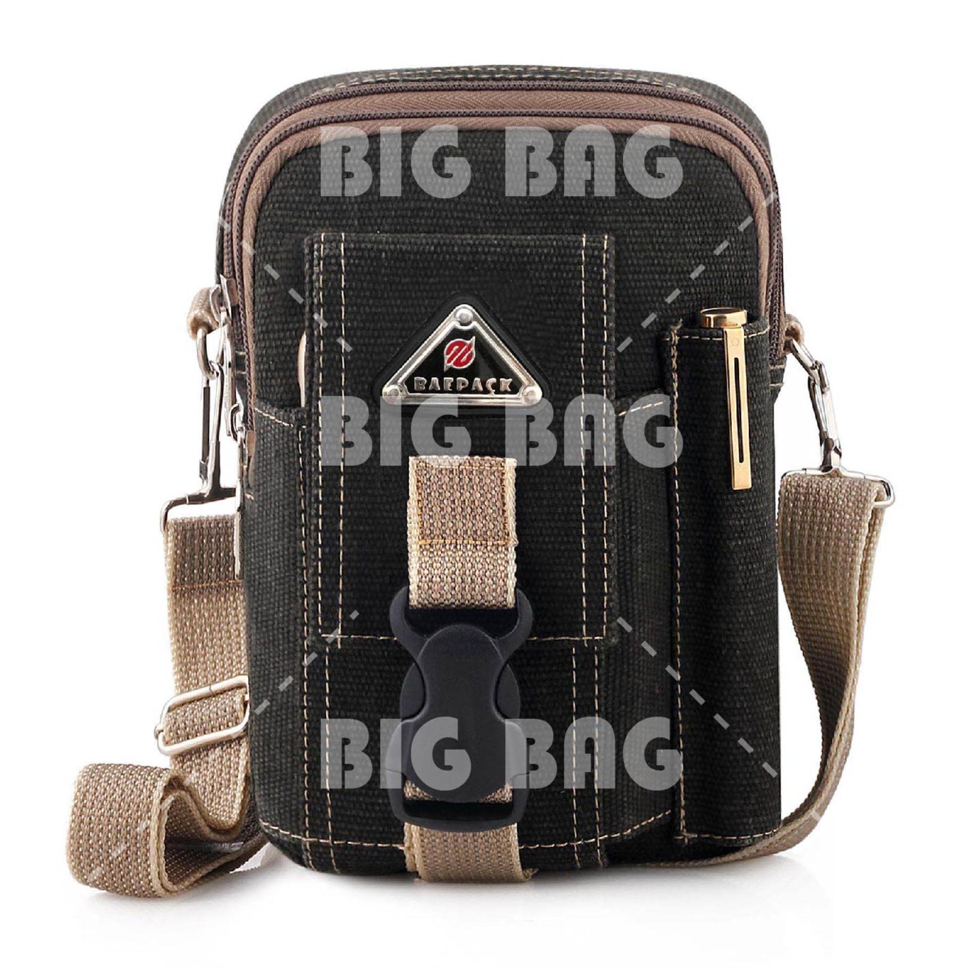 Tas Selempang Baepack Tactical Molle Canvas Triangle Waist Small Bag Military - Dark Grey Tas Pria