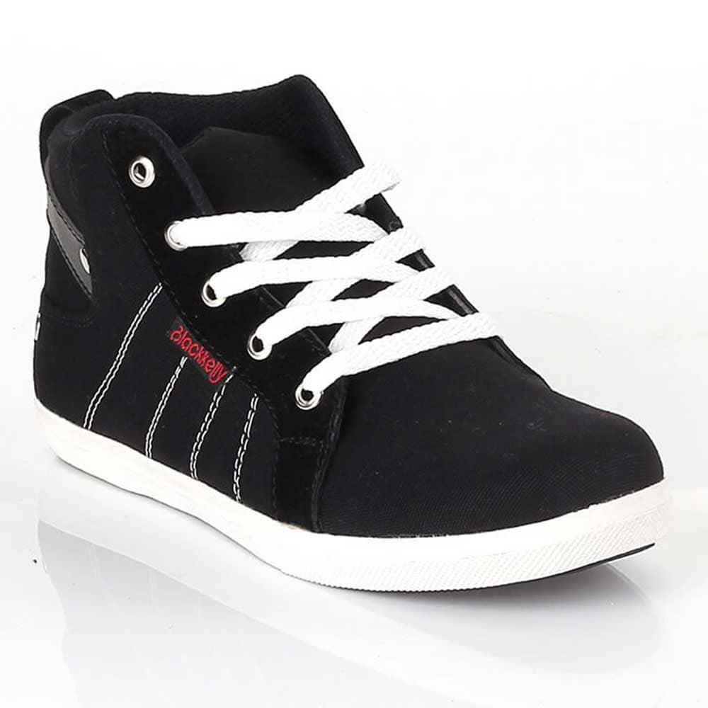 ... Ukuran 32-37 Sepatu Casual Sneakers Anak Laki-Laki Cowok Warna Hitam  LDL 288 8200d69051