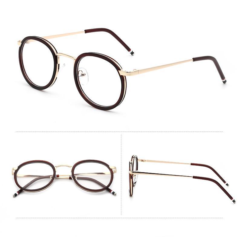 Gaya Korea Sastra 2018 Retro kaca polos Bingkai Kacamata perempuan pasang  model bingkai kacamata wanita pasang c1df4853c2
