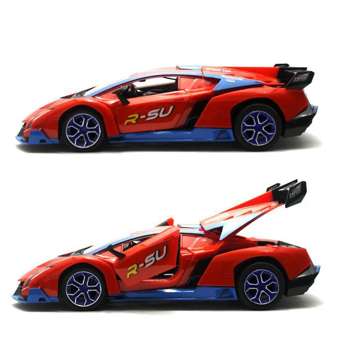 Detail Gambar RC Mobil Lamborghini Veneno Sports Rally Car Mainan Remote Control - Orange Terbaru