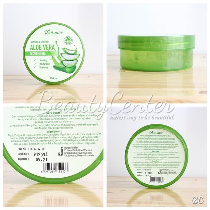 Aloevera Soothing Gel Original BPOM 250ml / Gel Lidah Buaya / Menutrisi Kulit Wajah