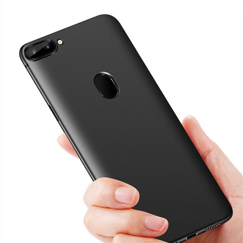 Soft Case TPU Silicon Oppo F7 - Slim Black Matte