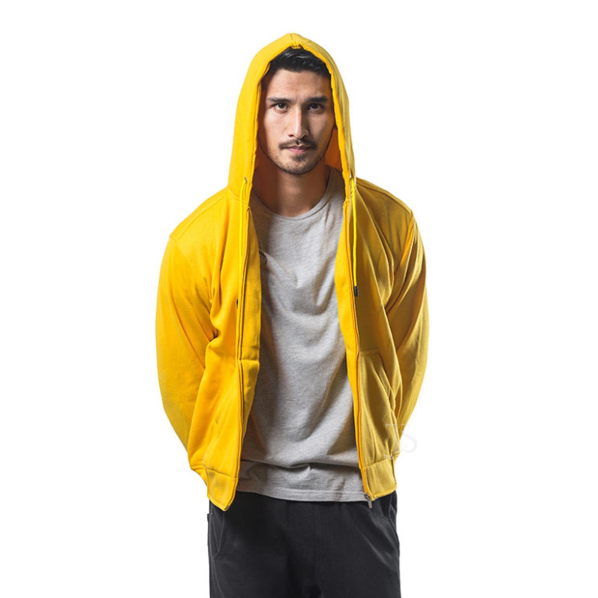 Cek Harga Baru Pria Hooded Coat Desain Polos Hoodie Kosong Jaket Hodie Bajukitaindonesia Zipper Kuning Dan Wanita