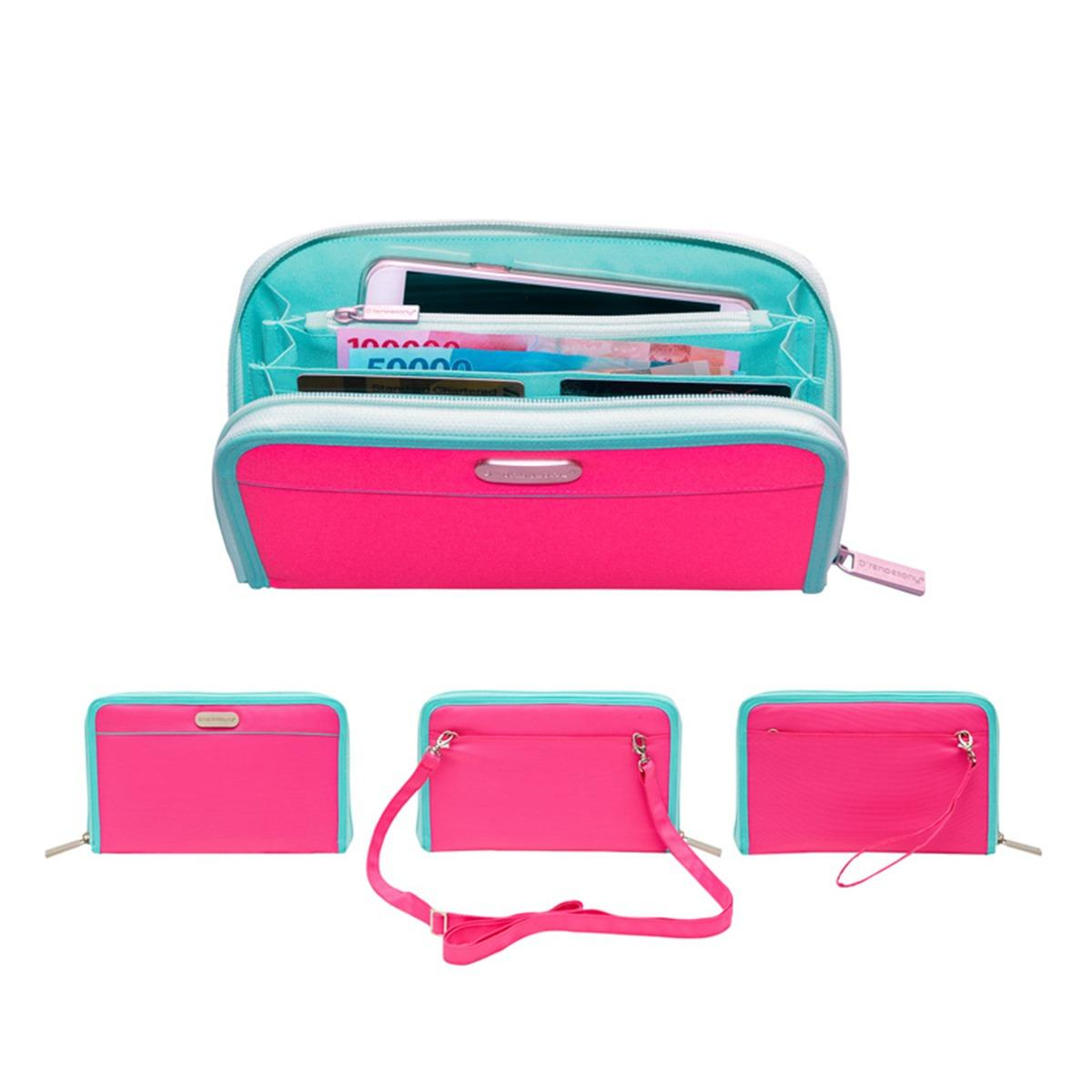 Review Tentang D Renbellony Smartphone Organizer Magenta Turquoise Dompet Hp Dompet Wanita Handphone Pouch Organizer