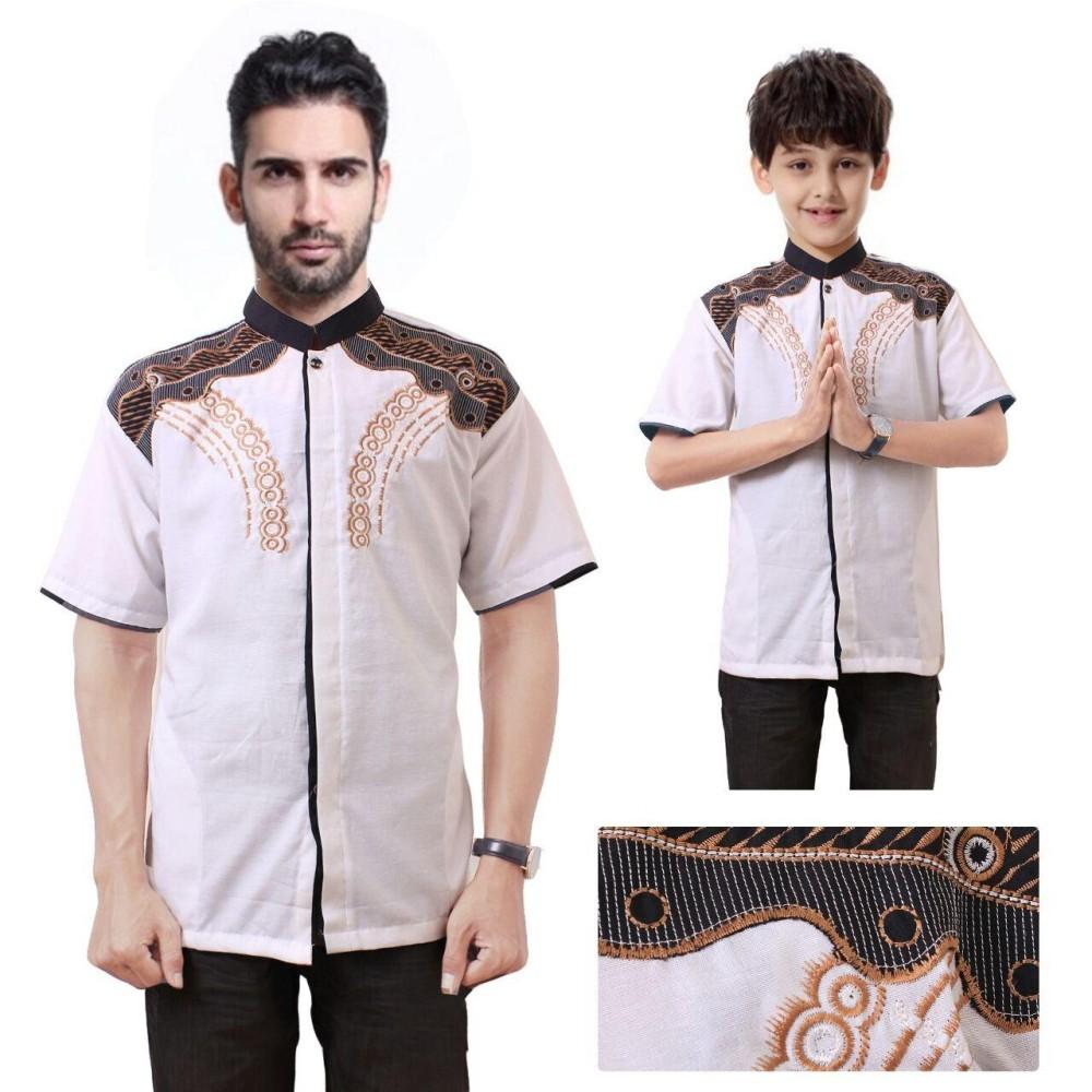 Miracle Couple Atasan Baju Muslim hendra Koko Kemeja Anak Dan Ayah Pria