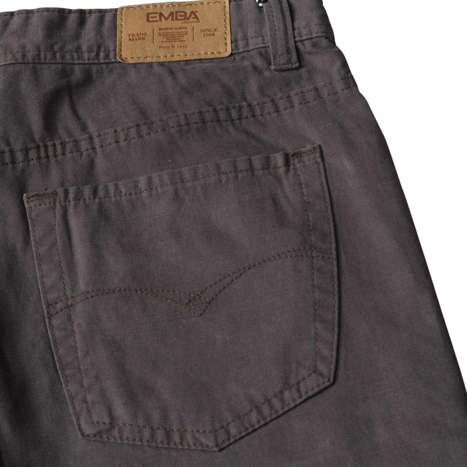 Emba Jeans Celana Panjang Pria Bs 08 Jordan Regular Black Cek Fm328 Basic Upd Warna Heavy Stom Navy 27 Brown 5