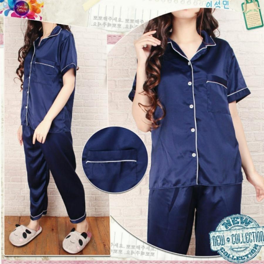 Harga Newone Shop Piyama Tidur Wanita Baju Tidur Wanita Bahan Satin Celana Panjang Merk Newone