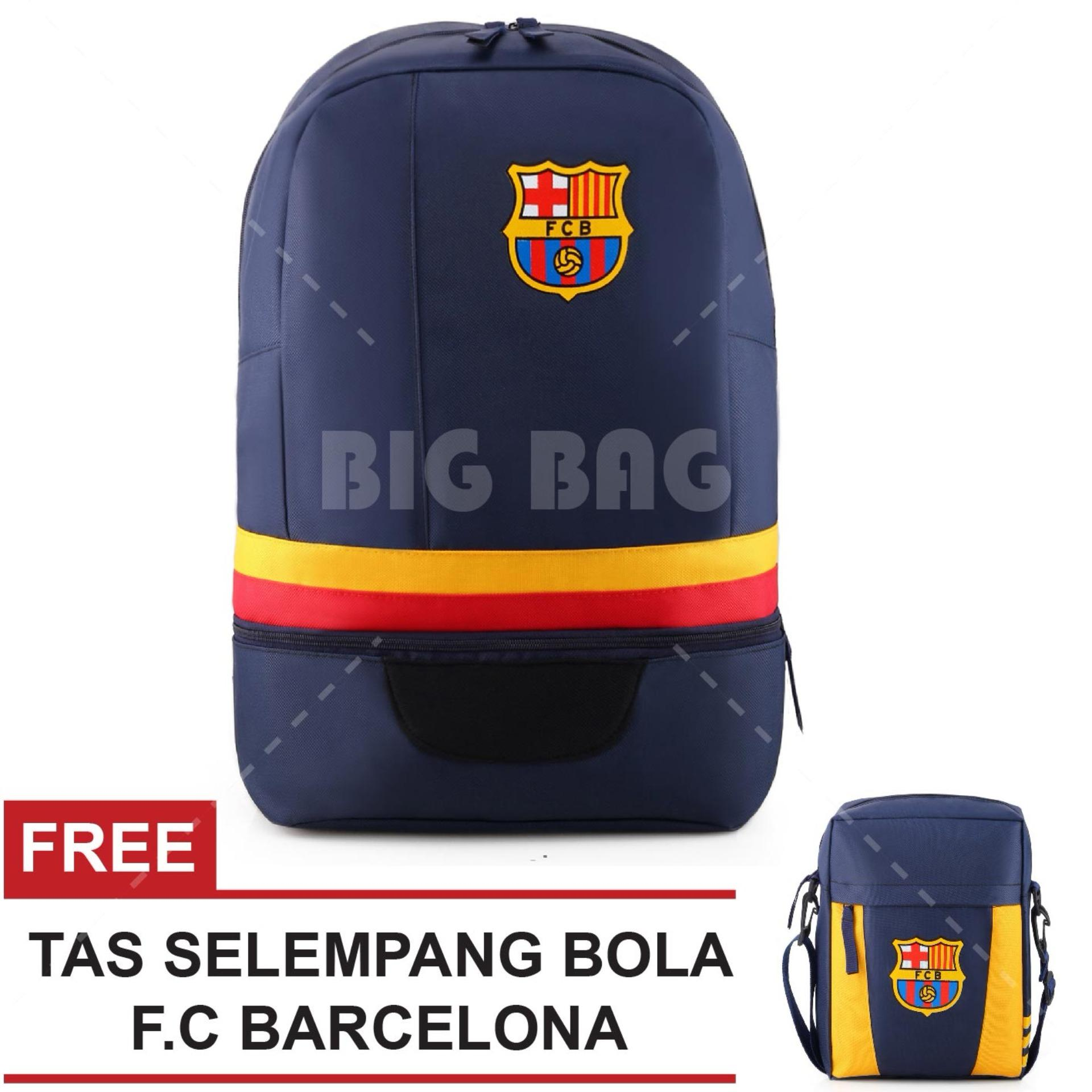 Jual Tas Ransel Bola Pria Fc Barcelona Laptop Backpack Men Soccer Editions Navy Free Tas Selempang Fc Barcelona Navy Branded Original