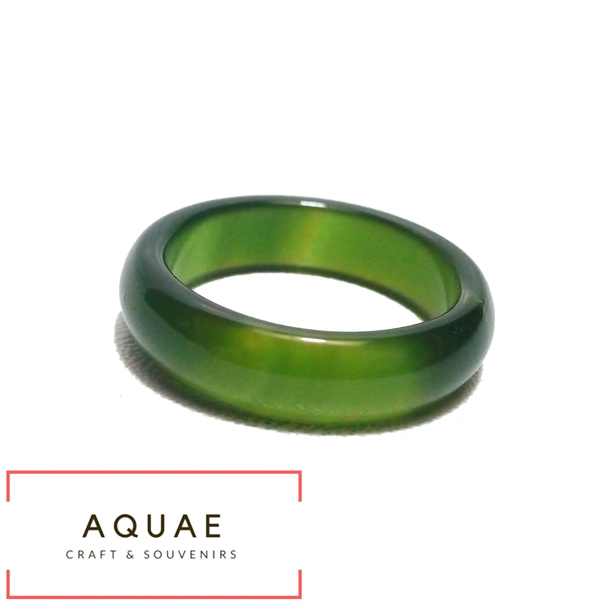AQUAE - Cincin batu Akik Giok Natural