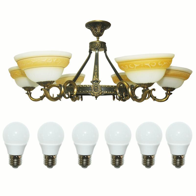 EELIC LHG-24 Lampu Hias Gantung + 6 pcs led 5 watt Kap Lampu Berbentuk Mangkok Cantik