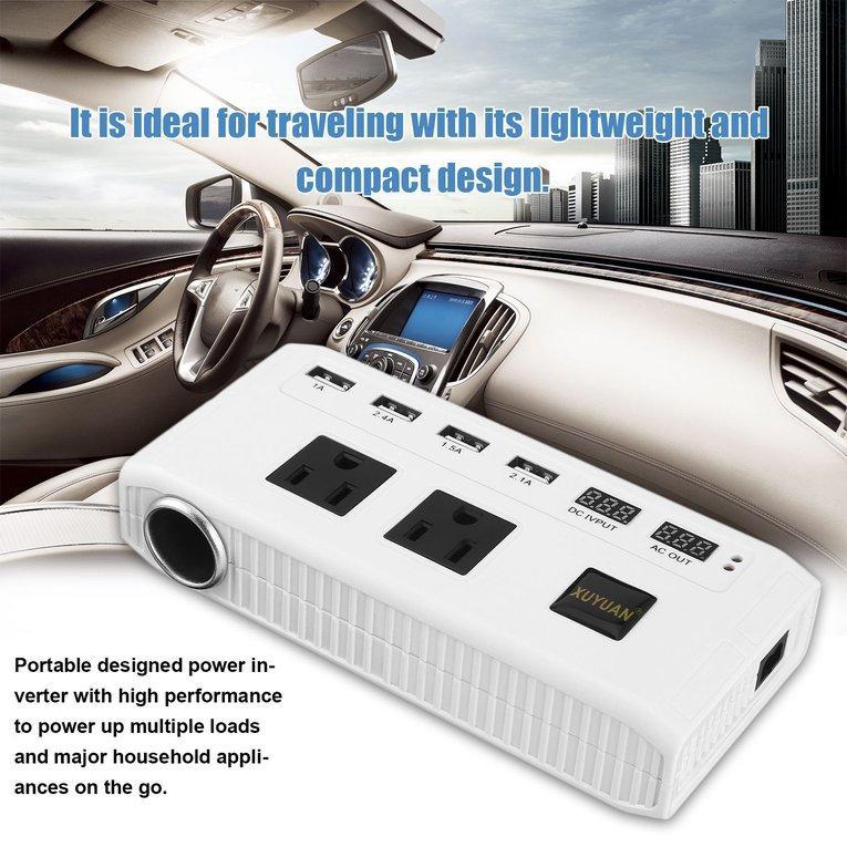 BELLE 500W Portable Car Power Inverter DC 12V to 110V AC Converter .