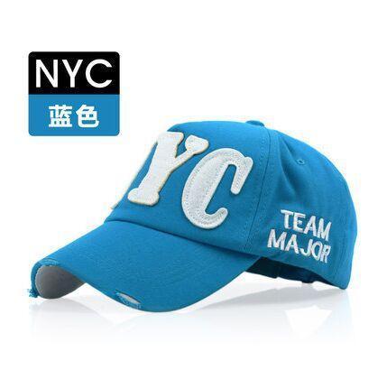 Korea Selatan NYC Pria dan Wanita bisbol topi Musim panas Luar rumah Gaya  Korea pelindung sinar 04f6e2039a